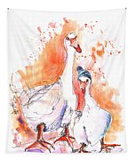 Geese In Spanish Winter Tapestry