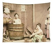 Geishas Bathing Tapestry