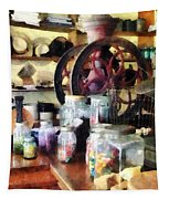 General Store With Candy Jars Tapestry