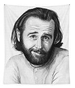 George Carlin Portrait Tapestry by Olga Shvartsur