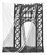 George Washington Bridge Nj Tower Tapestry
