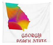 Georgia State Map Collection 2 Tapestry