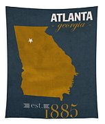 Georgia Tech University Yellow Jackets Atlanta College Town State Map Poster Series No 043 Tapestry