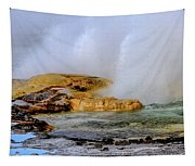 Geothermal Geyser On Yellowstone Lake Tapestry