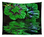 Geranium Leaves - Reflections On Pond Tapestry