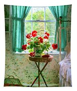 Geraniums In The Bedroom Tapestry