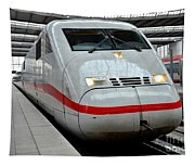 German Ice Intercity Bullet Train Munich Germany Tapestry