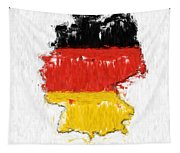 Germany Painted Flag Map Tapestry