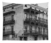 Gettin' By In New Orleans Bw Tapestry
