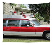 Ghost Buster Style Ambulance Tapestry
