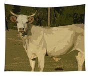 Ghost Cow 2 Tapestry