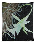 Ghost Orchid On A Palm Tree Tapestry