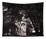 Ghostly Fortress Tapestry