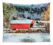Gifford Covered Bridge In Winter Tapestry