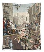 Gin Lane, Illustration From Hogarth Tapestry