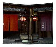 Gion Geisha District Doorways Tapestry