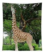 Giraffe Eats-09053 Tapestry
