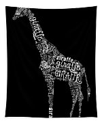 Giraffe Is The Word Tapestry
