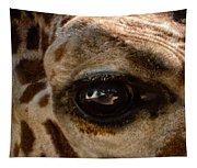 Giraffe Look Into My Eye Tapestry