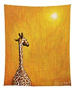 Giraffe Looking Back Tapestry