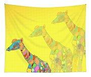 Giraffe X 3 - Yellow - The Card Tapestry