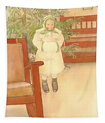 Girl And Rocking Chair Tapestry