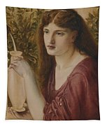 Girl At A Fountain Tapestry