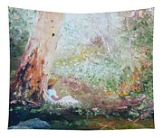 Girl In A White Dress Tapestry