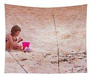 Girl In The Sand Tapestry