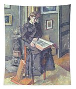Girl Reading A Book Tapestry