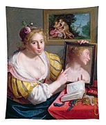 Girl With A Mirror, An Allegory Tapestry