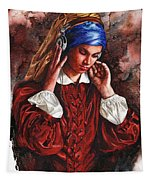 Girl With The Poor Hearing Tapestry