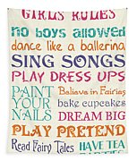 Girls Rules Tapestry