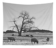 Give Me A Home Where The Buffalo Roam Bw Tapestry