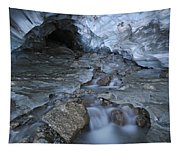 Glacial Creek Flowing From Blue Ice Tapestry