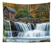 Glade Creek Grist Mill And Waterfalls Tapestry