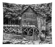 Glade Creek Grist Mill Bw Tapestry