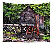 Glade Creek Grist Mill Painter Version Tapestry