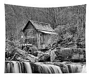 Glade Creek In Black And White Tapestry