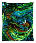 Glass Macro Abstract 13e7a Tapestry