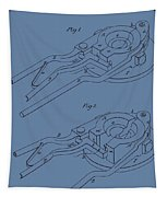 Glass Mold Patent On Blue Tapestry