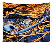 Glass Whale On Fishing Nets Tapestry