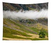 Misty Mountain Landscape Tapestry