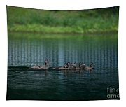 Gliding Across The Water Tapestry