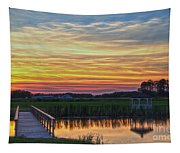 Glowing East Coast Sunset Tapestry