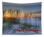 Glowing Sea Oats Sunrise Tapestry