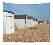 Glyne Gap Beach Huts In Sussex Tapestry