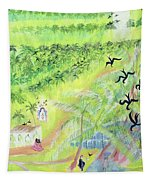 Goa, India, 1998 Oil On Paper Tapestry