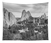 Gods Colorado Garden In Black And White    Tapestry