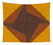Gold And Brown Pinwheel Tapestry